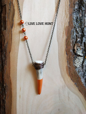 live love hunt™ antler necklace, tiger lily