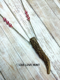 live love hunt™ antler necklace, watermelon mix