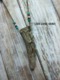 live love hunt™ antler necklace, southwest style