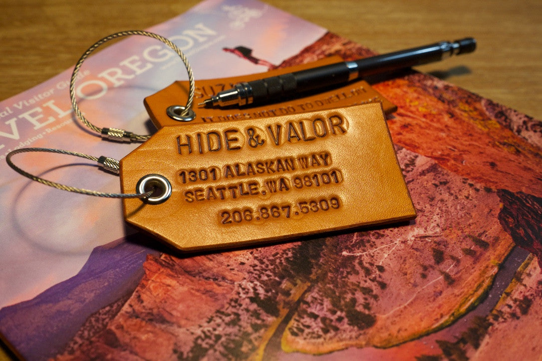 how to make leather luggage tags hide valor