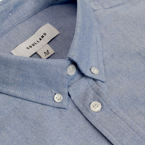 Soulland Oxford shirt in light blue.