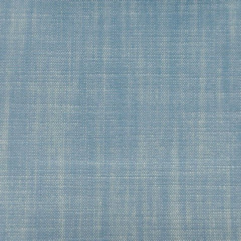 Chambray weave using blue and white threads.