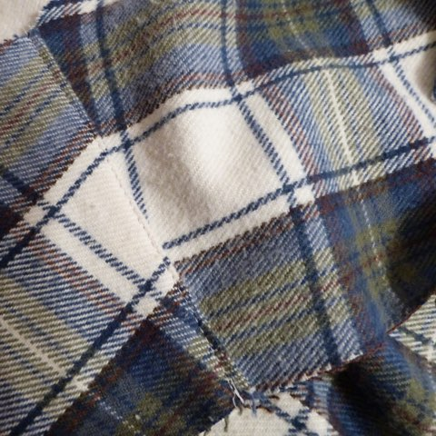 Raw flannel fabric