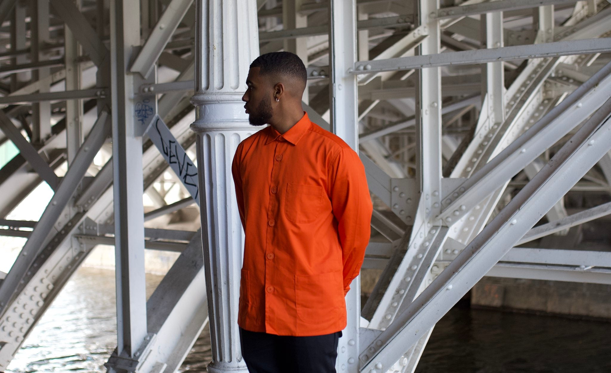Schnayderman's Tech Twill Overshirt - Orange
