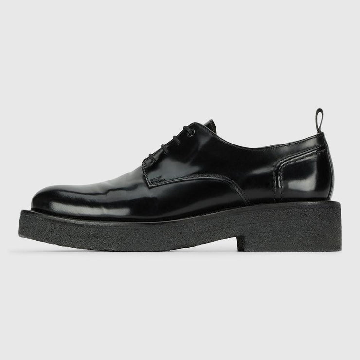 AMI Alexandre Mattiussi Leather Thick Crepe Sole Derbie - Black Footwear AMI Alexandre Mattiussi