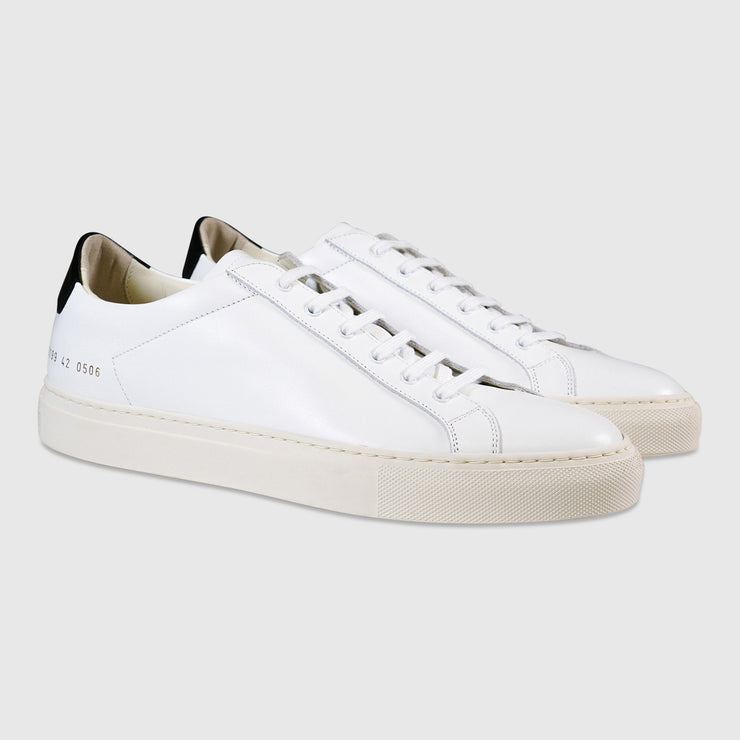 Common Projects Retro Low Sneakers - White / Black Sneakers Common Projects