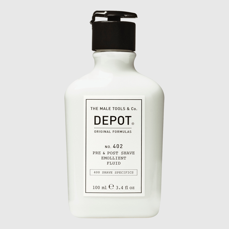 Depot No. 402 Pre & Post Shave Emollient Fluid Shave Products Depot