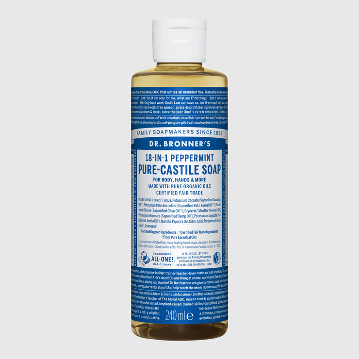 Dr. Bronner's 18-in-1 Pure-Castile Liquid Soap - Large Hand Soap Dr. Bronner's Peppermint