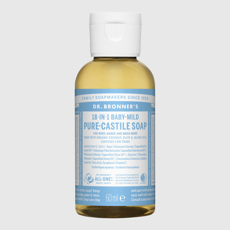 Dr. Bronner's 18-in-1 Pure-Castile Liquid Soap - Small Hand Soap Dr. Bronner's Fragrance Free