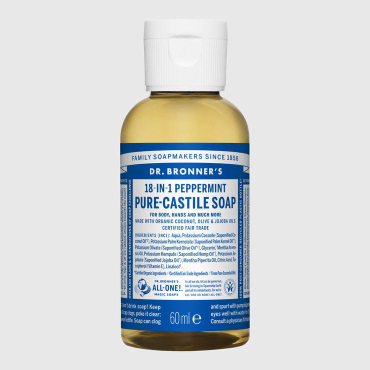 Dr. Bronner's 18-in-1 Pure-Castile Liquid Soap - Small Hand Soap Dr. Bronner's Peppermint