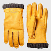 Hestra Deerskin Primaloft Rib Gloves - Natural yellow Gloves Hestra