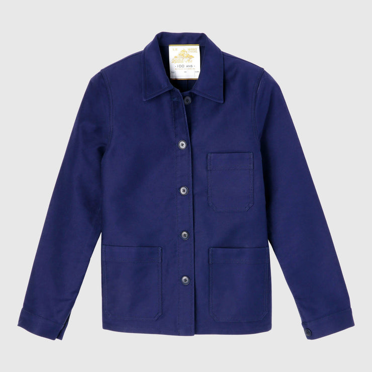 Le Mont St Michel Genuine Work Jacket - Blue Outerwear Le Mont St Michel