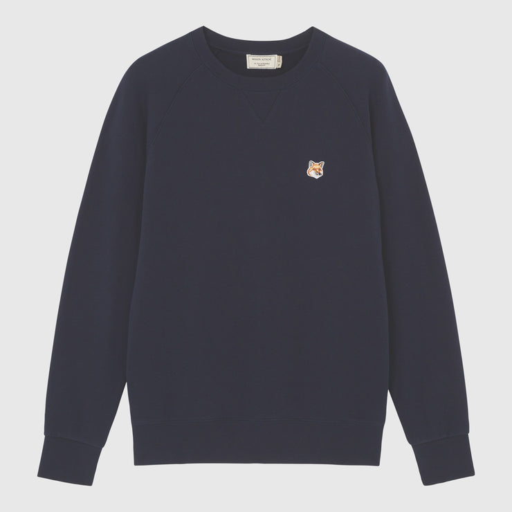 Maison Kitsuné Fox Head Patch Sweatshirt - Navy Knitwear Maison Kitsuné