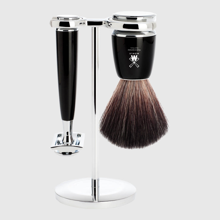 Mühle Rytmo Shaving Kit - 3 Parts Barbersett Mühle Sort Black Fibre