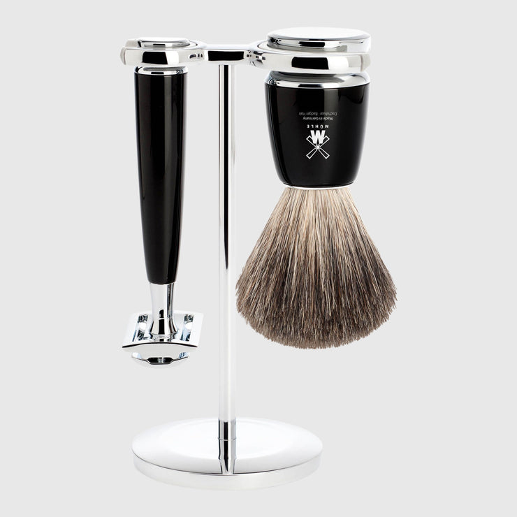 Mühle Rytmo Shaving Kit - 3 Parts Barbersett Mühle Sort Pure Badger
