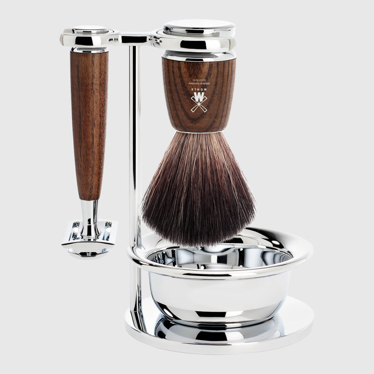 Mühle Rytmo Shaving Kit - 4 Parts Barbersett Mühle Ask Black Fibre
