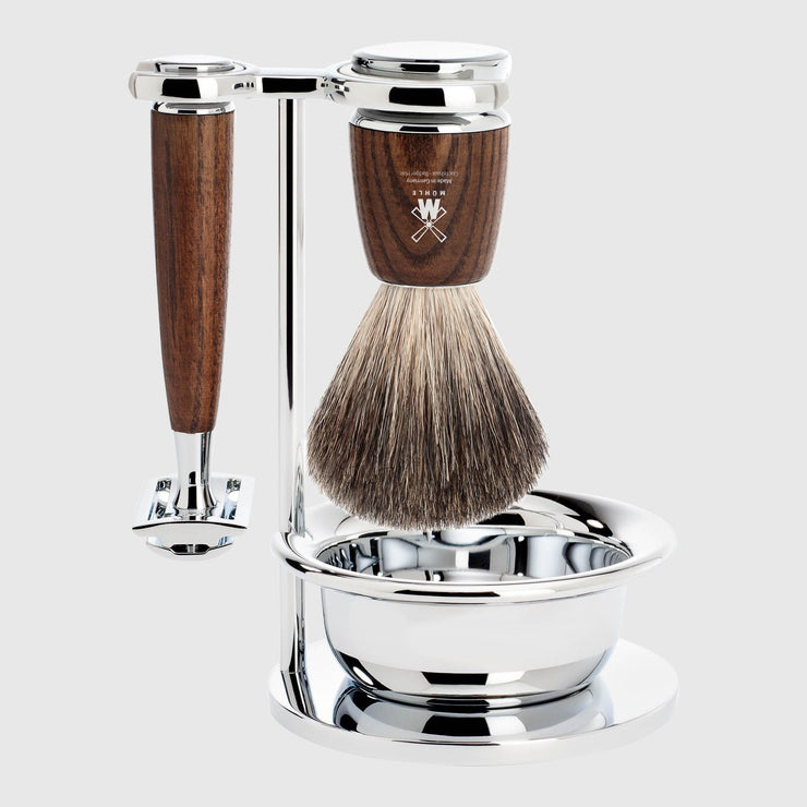 Mühle Rytmo Shaving Kit - 4 Parts Barbersett Mühle Ask Pure Badger