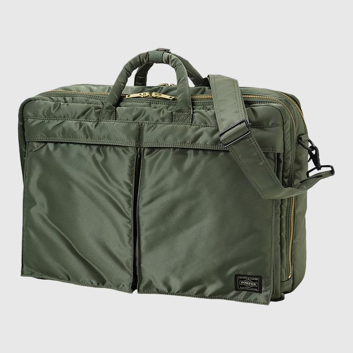 Porter-Yoshida & Co. Tanker 3Way Suit Case - Medium Bag Porter-Yoshida & Co. Sage Green
