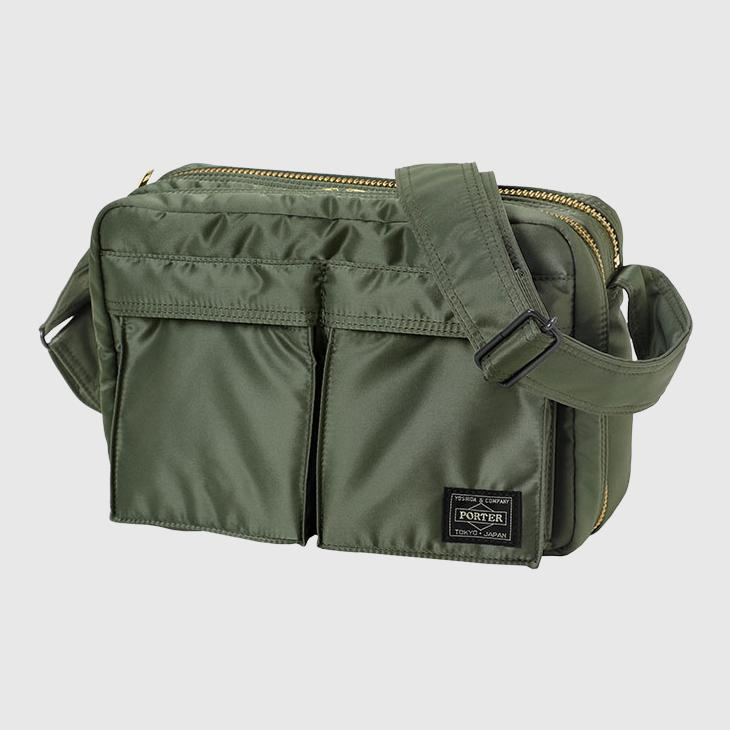 Porter-Yoshida & Co. Tanker Large Shoulder Bag - Sage Green Bag Porter-Yoshida & Co.