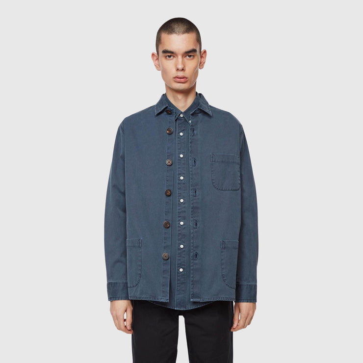 Schnayderman's Overdyed One Overshirt - Dark Blue Shirt Schnayderman's