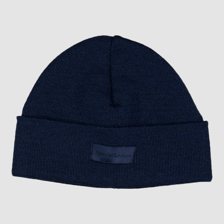 Special Lemon Logo Beanie - Navy Black Headwear Special Lemon