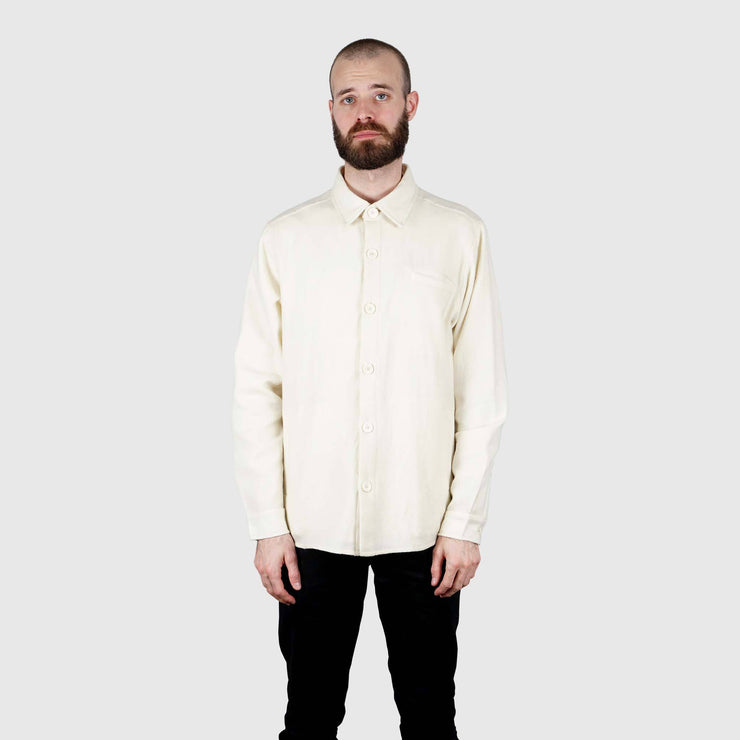Special Lemon Merino Wool Overshirt - Ecru Overshirt Special Lemon