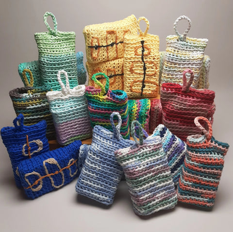 Soap Jackets Handmade 100% Cotton, Cozy, Bag, Sack