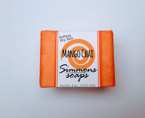 Mango Chai Bar Soap. Moisturizing and fragrant. Excellent for dry skin.