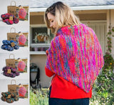 Araucania Hand Dyed Yarn Knit Kit -  Mulberry Shawl in Sayi