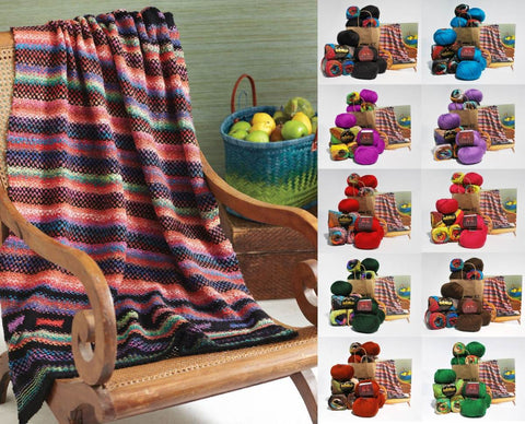 NORO - Woven Stitch Blanket in Taiyo/Cozy Soft Chunky