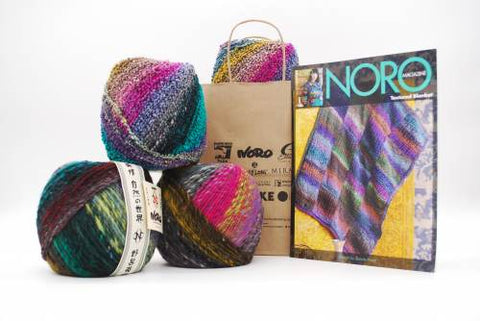 NORO Textured Blanket In Bachi & Kanzashi
