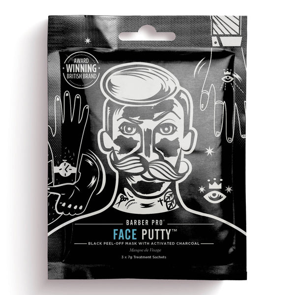Barber Pro Face Putty Peel-Off Mask - 3-pakning Ansiktsmaske Barber Pro