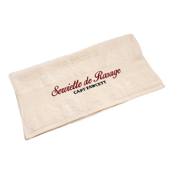 Captain Fawcett's Luxurious Shave Towel barberhåndkle - Stor Håndkle Captain Fawcett