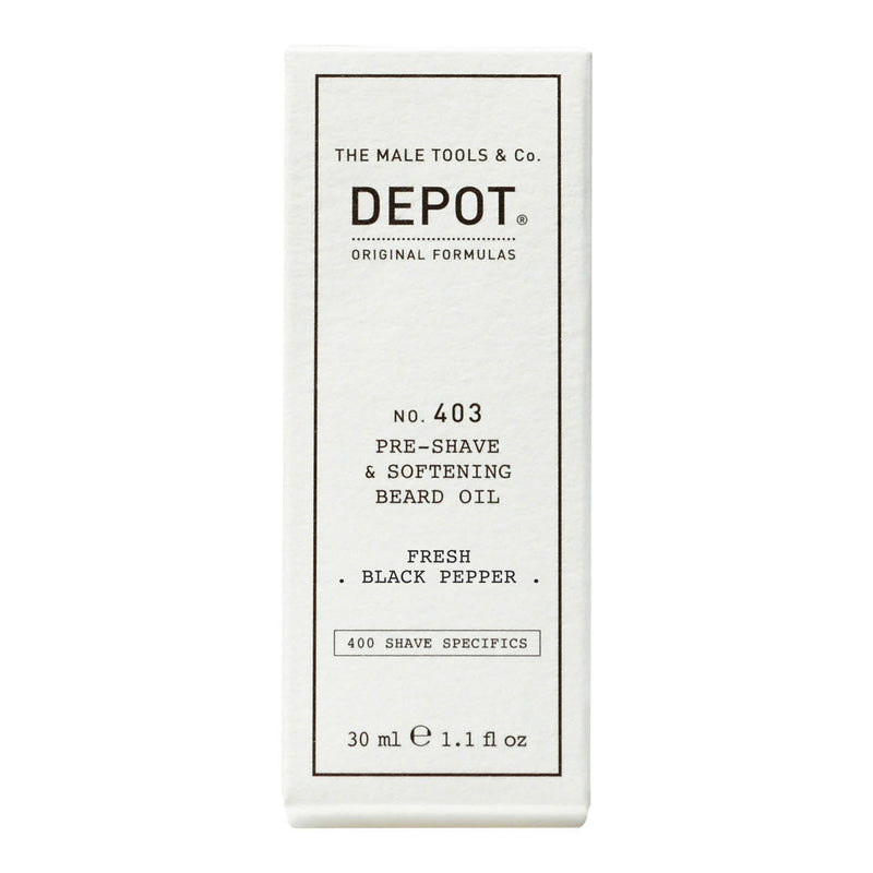 Depot No. 403 Pre-Shave & Softening Beard Oil Barberolje Depot Fresh Black Pepper
