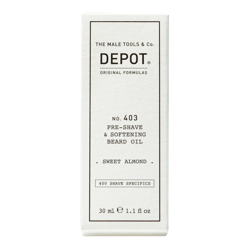 Depot No. 403 Pre-Shave & Softening Beard Oil Barberolje Depot Sweet Almond