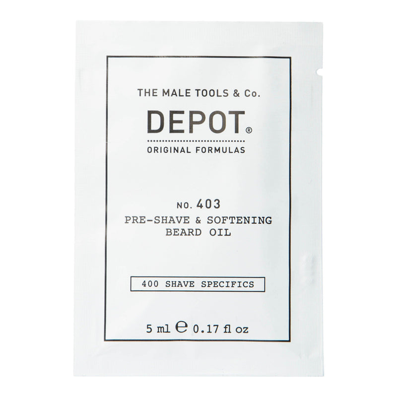 Depot No. 403 Pre-Shave & Softening Beard Oil - Vareprøve Barberolje Depot Sweet Almond