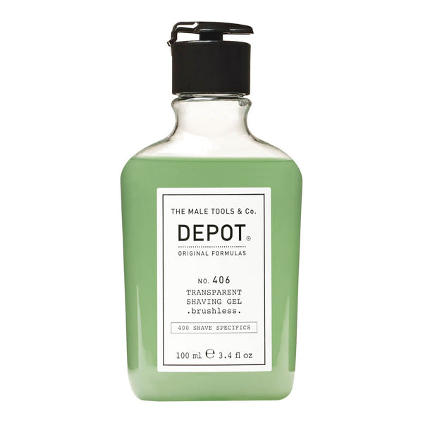 Depot No. 406 Transparent Shaving Gel Barbergele Depot 100 ml