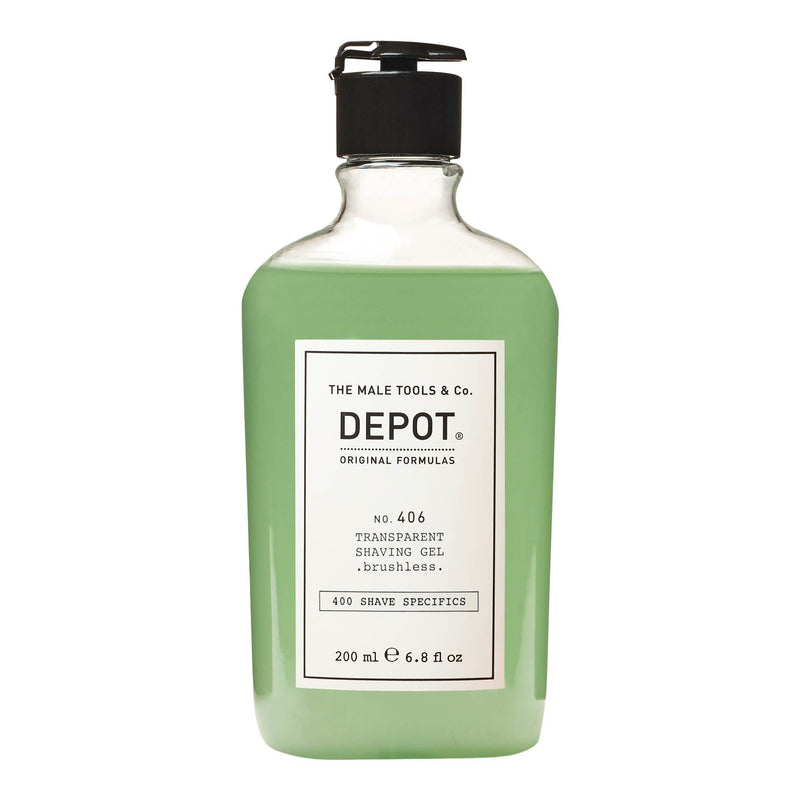 Depot No. 406 Transparent Shaving Gel Barbergele Depot 200 ml