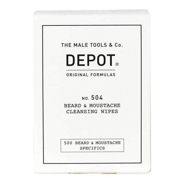 Depot No. 504 Beard & Moustache Cleansing Wipes Skjeggvask Depot