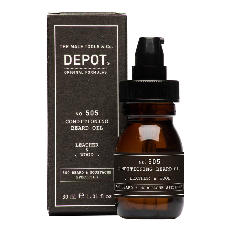 Depot No. 505 Conditioning Beard Oil Skjeggolje Depot Leather & Wood