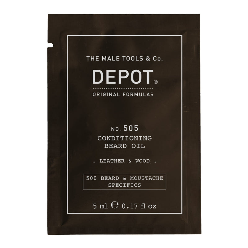 Depot No. 505 Conditioning Beard Oil - vareprøve Vareprøve Depot Leather & Wood