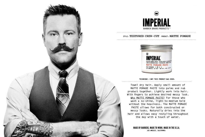 Imperial Barber Products Matte Pomade Paste Hårstyling Imperial Barber Products