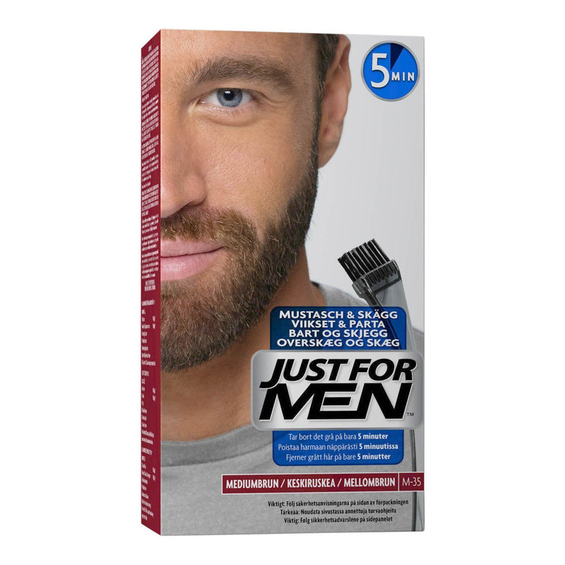 Just For Men bart- og skjeggfarge Bart- og skjeggfarge Just For Men Middels brun