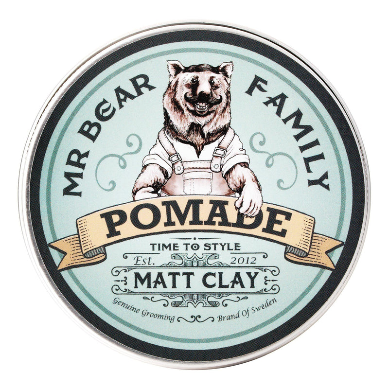 Mr Bear Family Pomade - Matt clay Hårstyling Mr Bear Family