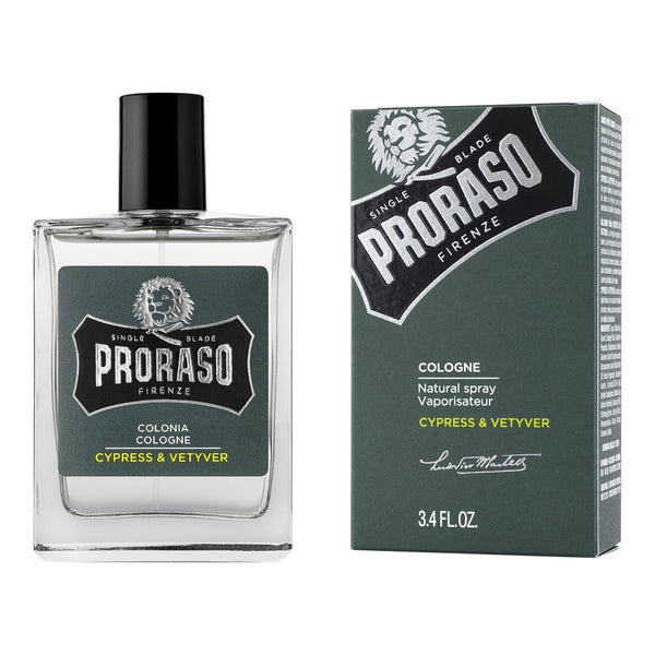 Proraso Single Blade Eau de Cologne - Sypress og vetiver Cologne Proraso