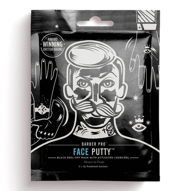 Barber Pro Face Putty Peel-Off Mask - 3-pakning