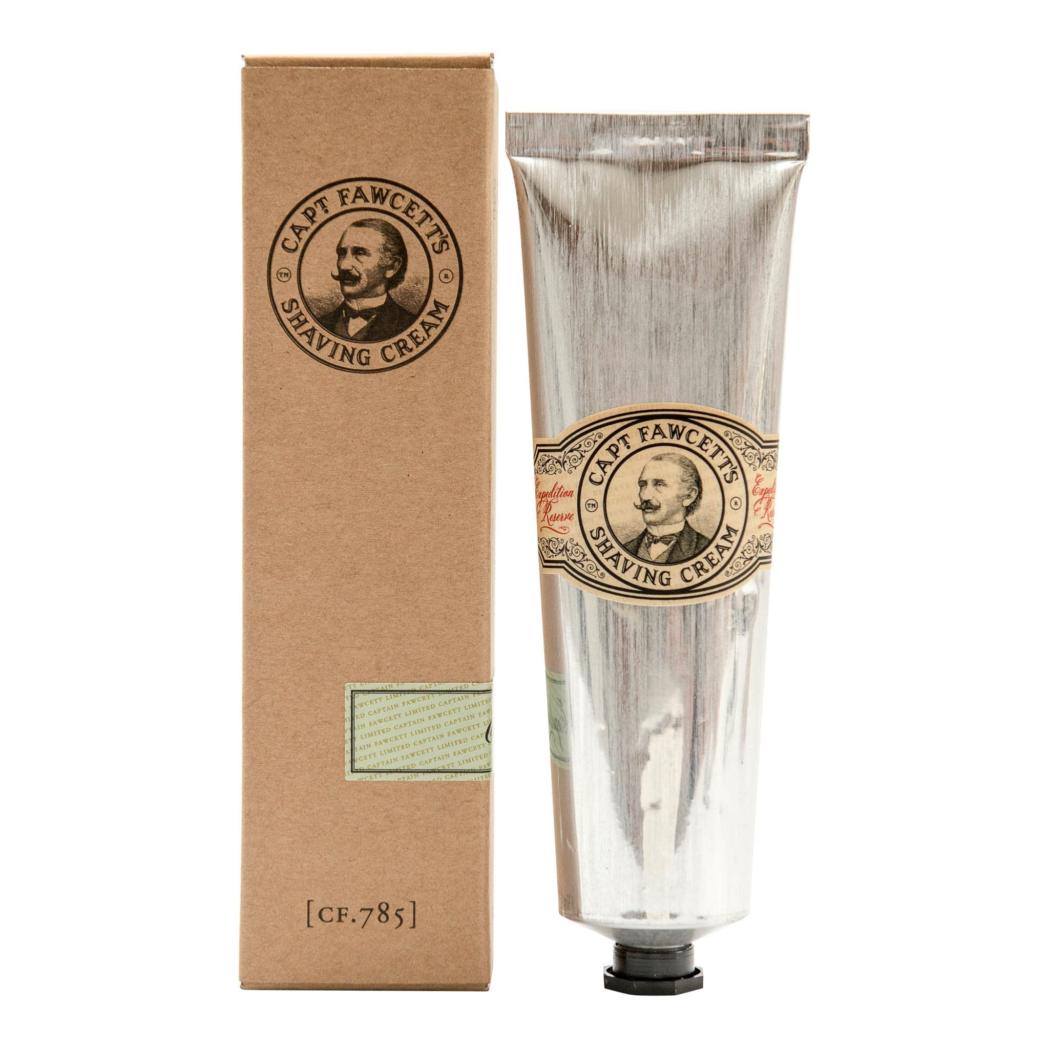 Captain Fawcett's Expedition Reserve barberkrem i tube