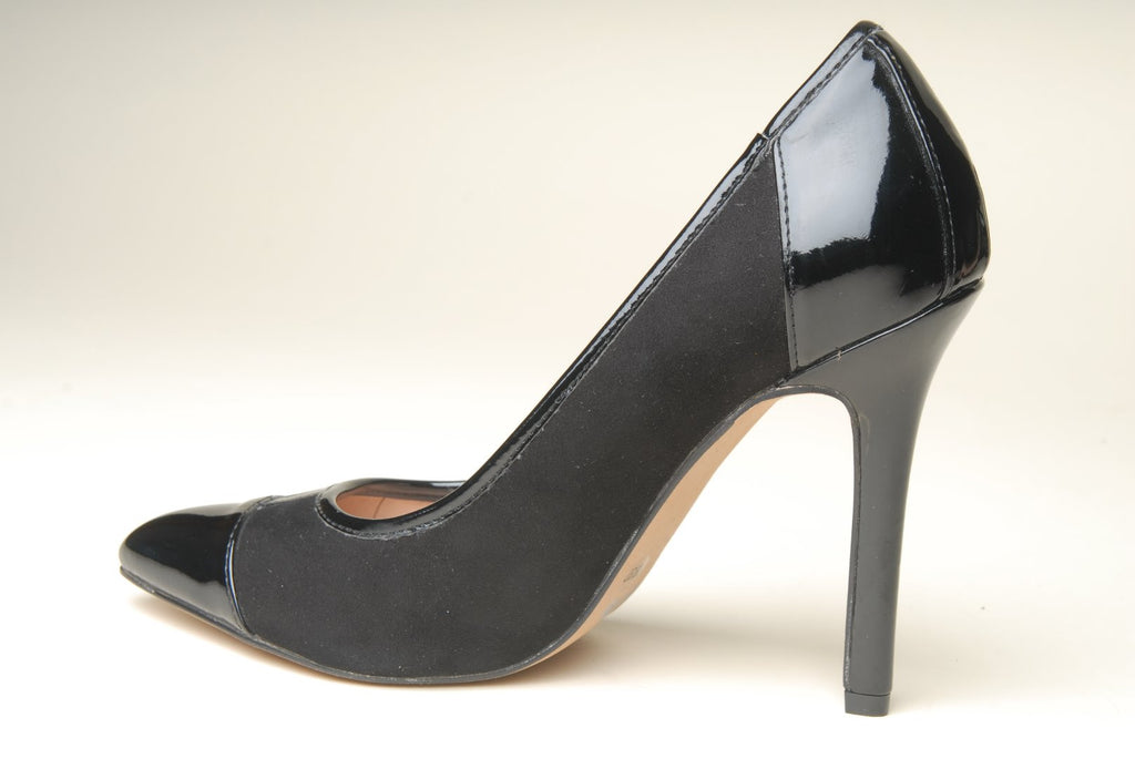 Sole Society SO-Danika Black Leather Heels
