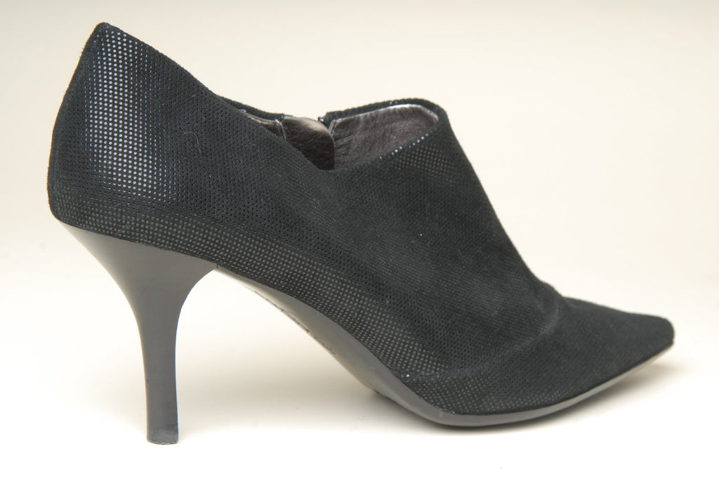 Calvin Klein Dixie Ankle Black Leather High Heels