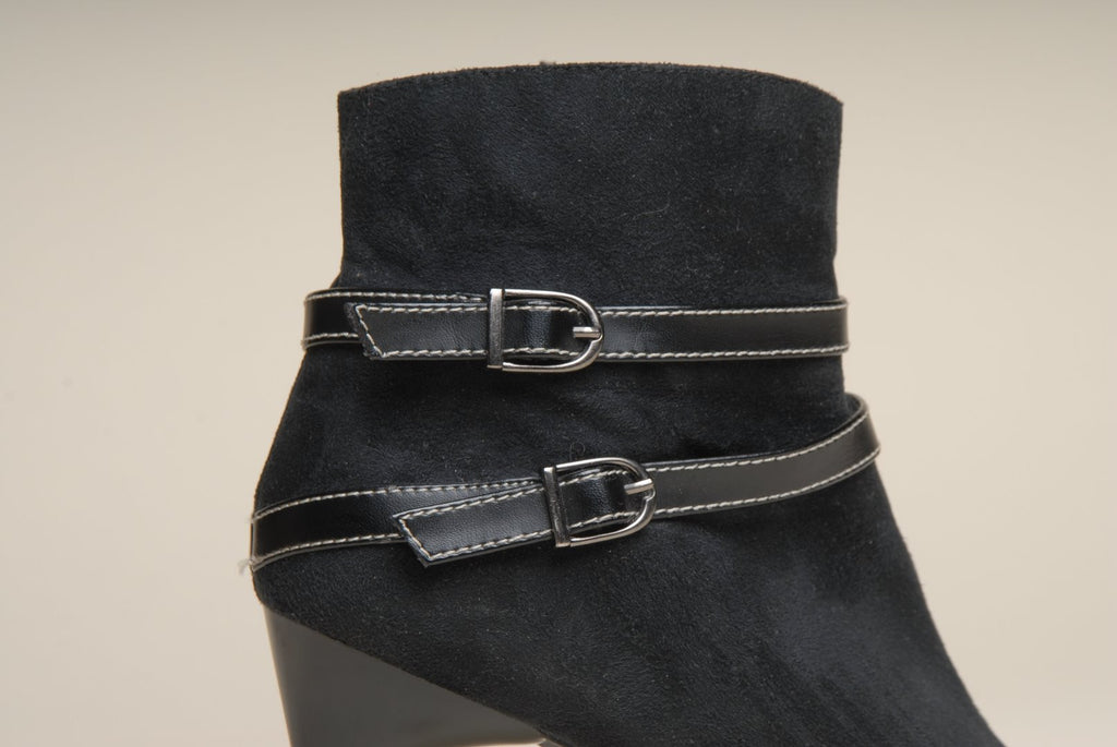 Anko Black Suede Women Ankle Booths